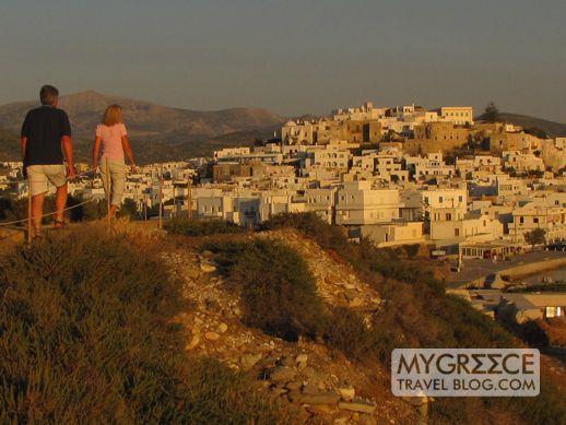 Palatia peninsula overlooking Naxos Town