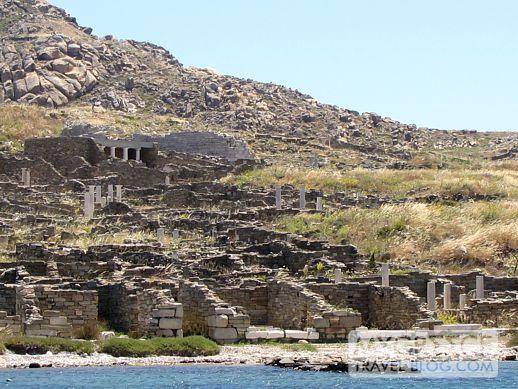 ruins on Delos Island