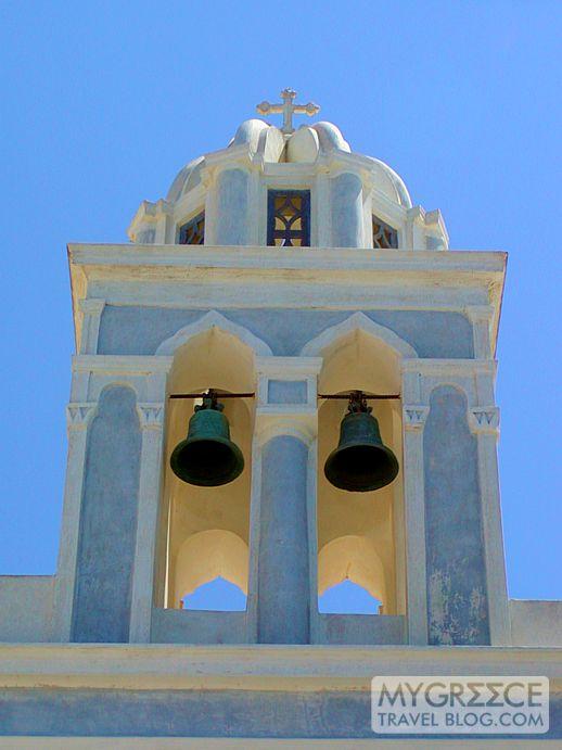 a church in Firostefani Greece