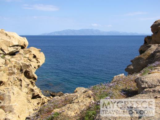 Mykonos view toward Naxos island