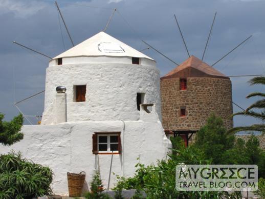 windmills on Milos
