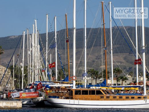 Excursion boats in Kos harbour
