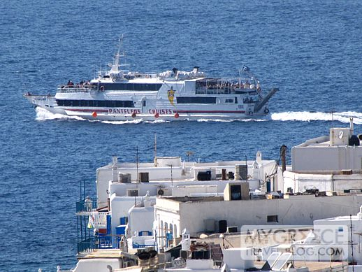 Naxos Star departs Mykonos