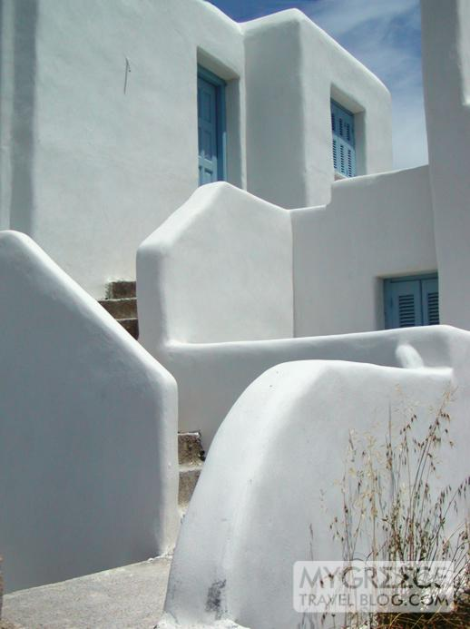 Villas on Naxos island Greece