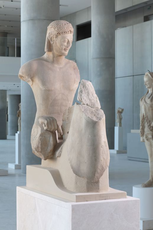 Rampin Horseman in the Acropolis Museum in Athens