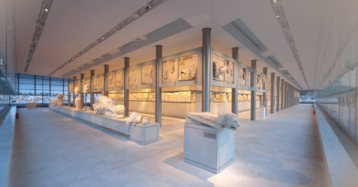 The Parthenon Gallery at the Acropolis Museum in Athens
