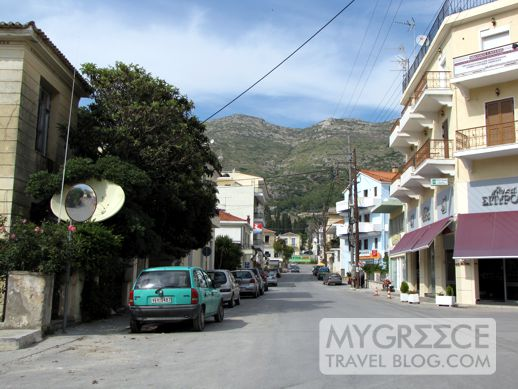 a street in Vathi on Samos