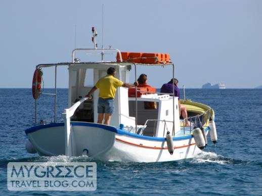 Paradise beach shuttle boat