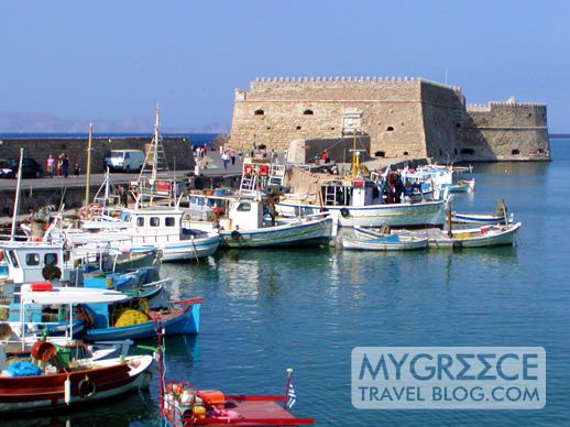 The Rocco al Mare fortress at Heraklion harbour Crete