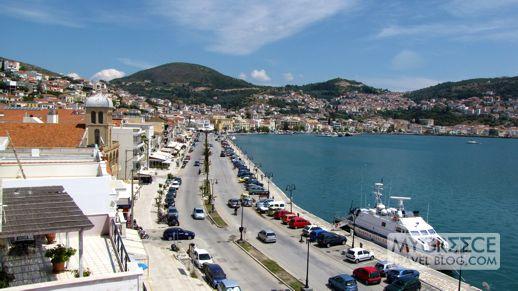 Vathi, the main city on Samos island