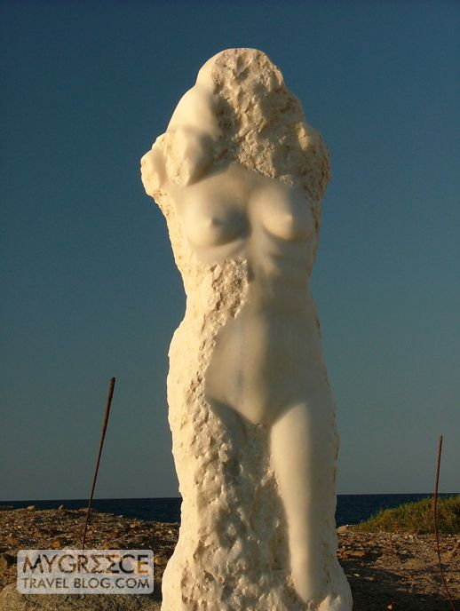sculpture at Naxos Town