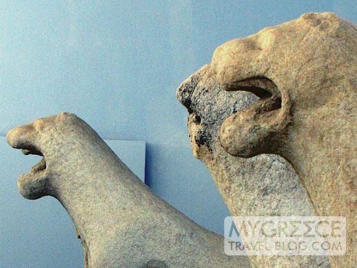 Delian lions in the Delos Archaeological Museum