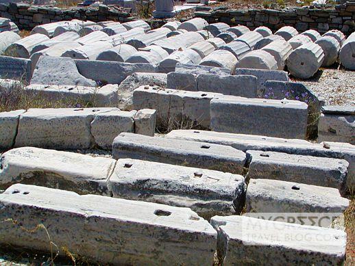 Building remnants on Delos island