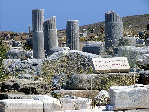 Stoa of Phillip in the ruins on Delos island