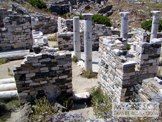 a house on Delos island
