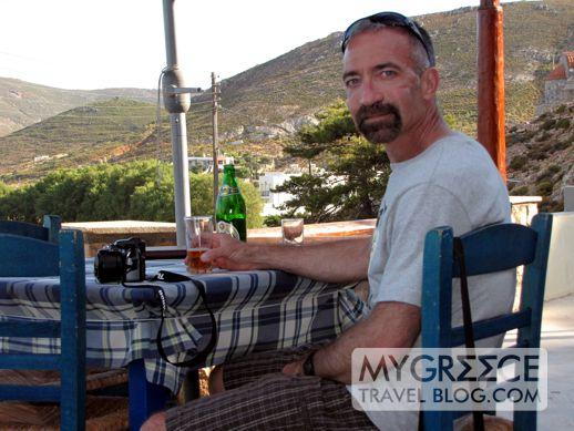 Flisvos restaurant at Grikos Bay Patmos