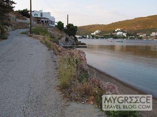 Flisvos taverna at Grikos Bay Patmos