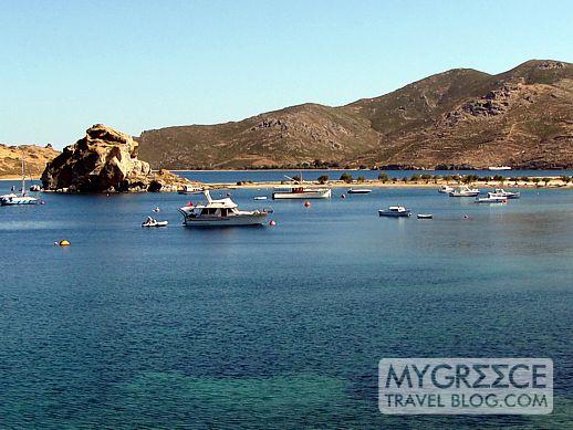 Kalikatsou Rock in Grikos Bay on Patmos