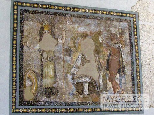 Mosaic of Hermes and Athena