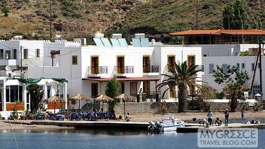 Oasis restaurant at Grikos Bay on Patmos