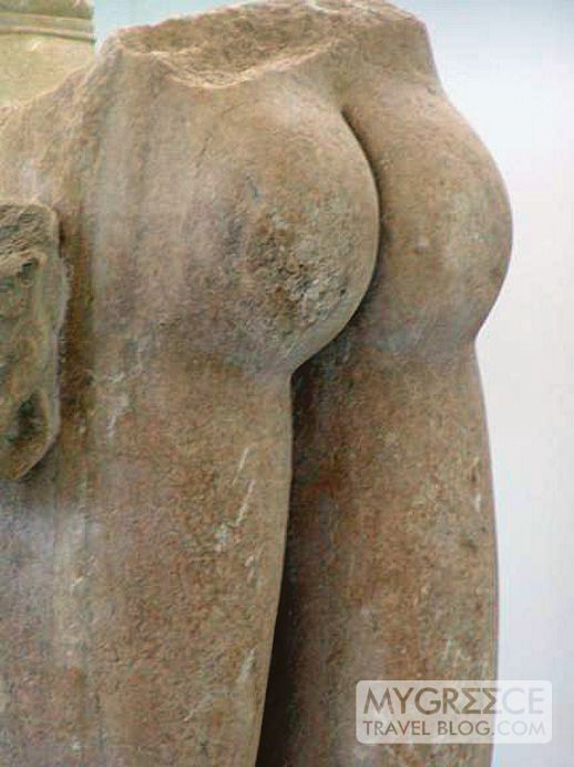 sculpture in the Delos archaeological museum