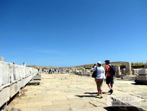 the Sacred Way on Delos Island