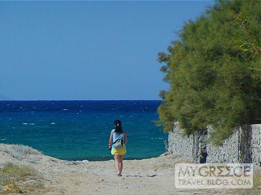 Stelida beach on Naxos