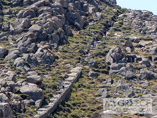 Viewing the Delos ruins from the summit of Mt Kynthos  MY ...