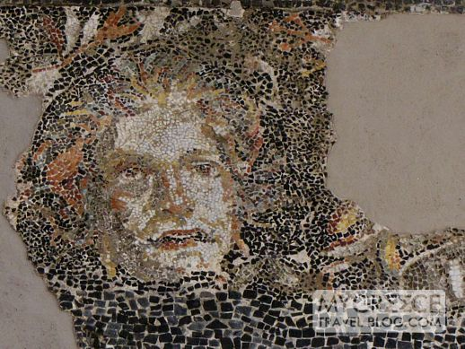 Hermes and Athena mosaic