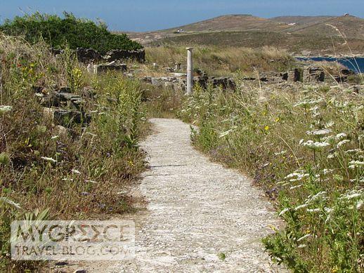 a pathway on Delos island