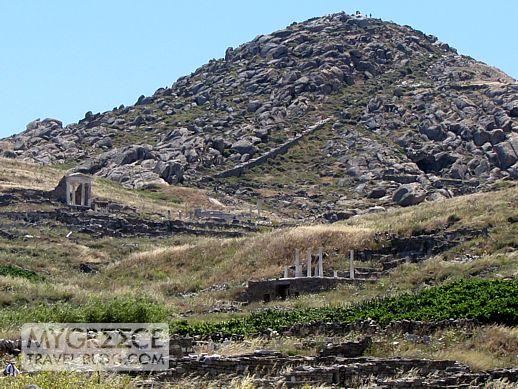 Mt Kynthos on Delos island