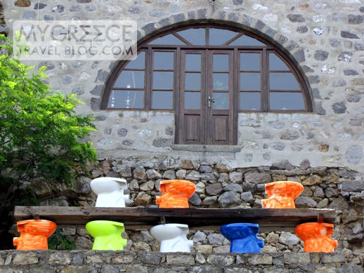 toilets on Patmos island Greece