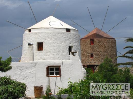 windmills in Milos