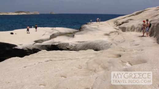 Sarakiniko beach on Milos