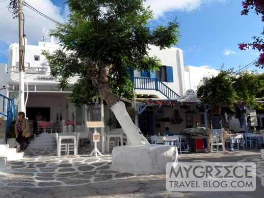 Caesars and Opa Taverna in Mykonos Town