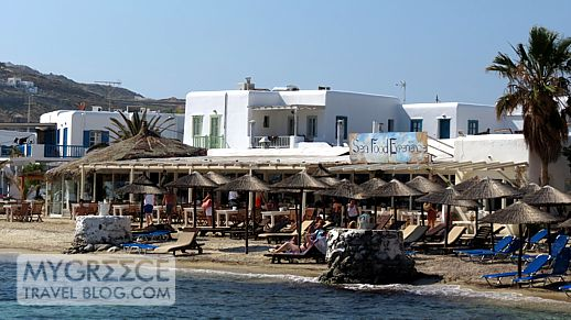 Ithaki restaurant at Ornos beach