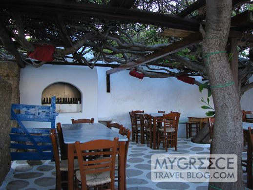 Kikis taverna at Agios Sostis beach Mykonos