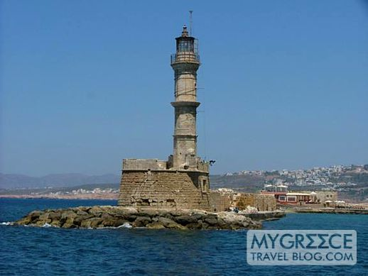 Lighthouse at Chania Crete