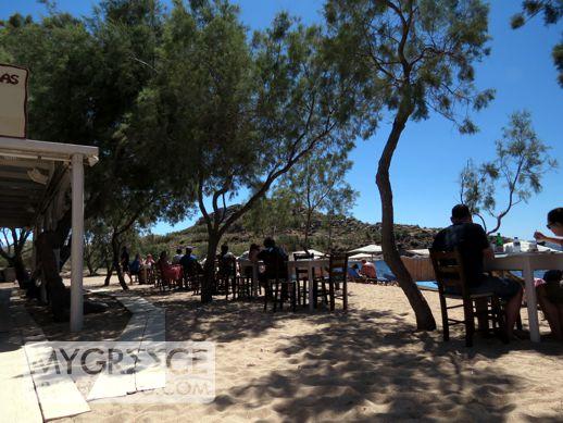 Nicolas Taverna at Agia Anna beach Mykonos