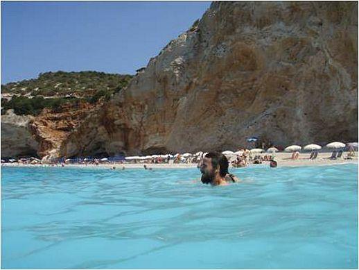 Porto Katsiki beach on Lefkada