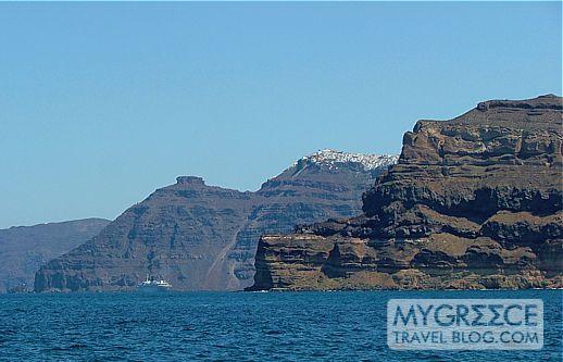 Skaros Rock and Imerovigli Santorini
