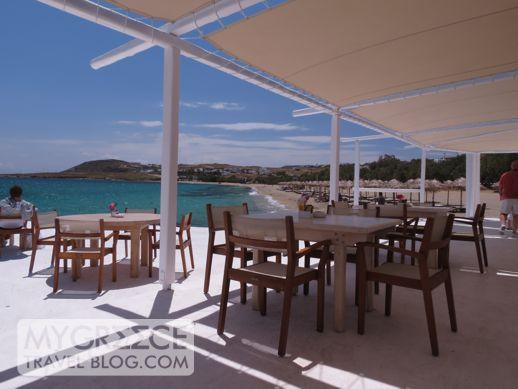 Thalassa beach bar & restaurant at Kalafatis beach Mykonos