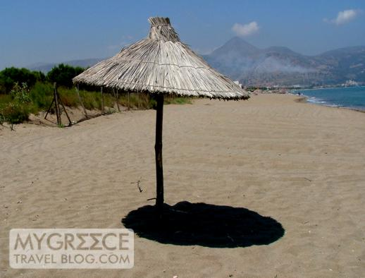 Amoudara beach on Crete