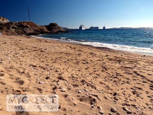 a beach at Tourlos Mykonos