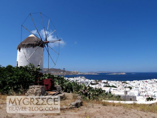 a windmill in Mykonos
