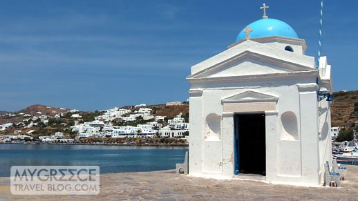 church at Mykonos harbour