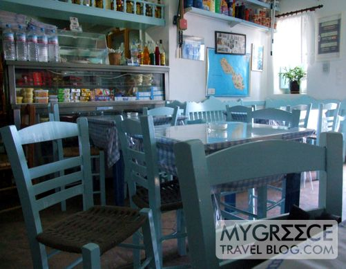 Irene's grocery store & cafe on Folegandros