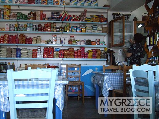 Irene's grocery store and cafe on Folegandros