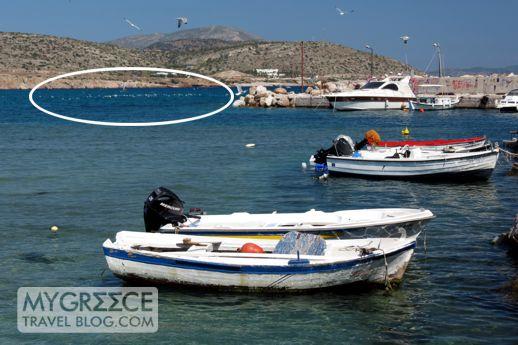 seagulls at Varkiza bay in Attica