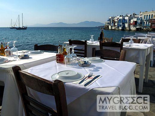 Alefkandra Taverna at Little Venice Mykonos